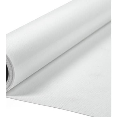 PVC Fabric White. Weight 620g/m². Width 204cm. Roll 132,6m². Price per roll VAT incl.