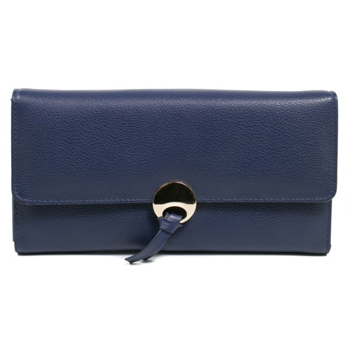 PVC Leather, Budget+, width 145cm, weight 450g/m², Dark blue. Free shipping!