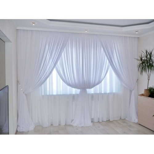 Polyester fabric white, width 300cm, weight 90g/m². Minimum order 10m. Free delivery!