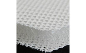 3D Mesh Fabric 20mm Thickness, White. Width 220cm, weight 800g/m²