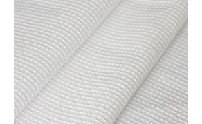 Waffle Cloth 100% cotton, weight 220g/m², width 45cm, white. Free shipping