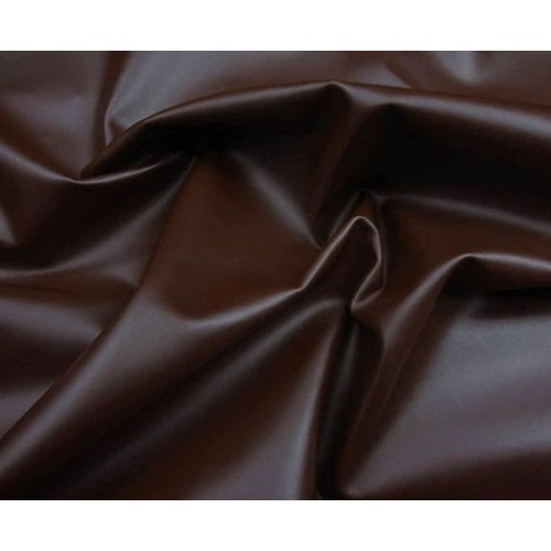 High Quality PVC leather fabric Coventry, width 140cm, weight 770g/m², dark brown. Free shipping!