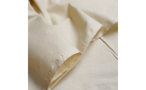 Cotton Fabric, weight 150g/m², width 160cm, unbleached. Free shipping!