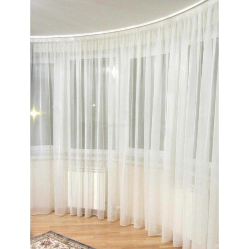 Polyester fabric milky color, width 300cm, weight 90g/m². Minimum order 10m. Free delivery!