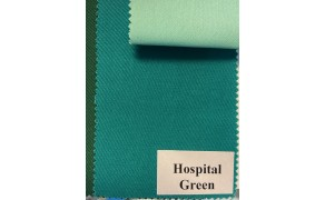 Fabric MEDICAL, Hospital Green. Width 150cm, weight 195g/m². Price per roll 50m, VAT incl.