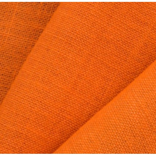 Jute Fabric, N°64. Weight: 280 g/m². Width: 145 cm. Orange color. Free shipping!
