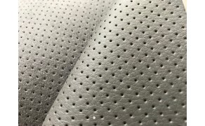 High Quality Perforated PU Leather, width 140cm, Gray. Free shipping!