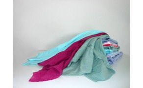 SK05 (10 kg), 100% coloured thin cotton wiping rags. Price per piece (10 kg)   21% VAT incl.