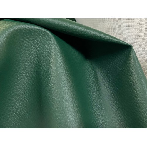 PVC Leather, Budget+, width 145cm, weight 450g/m², Green. Free shipping!