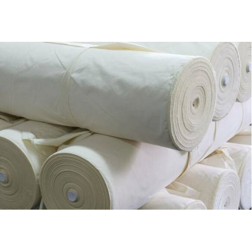 Cotton Fabric, weight 140g/m², width 165cm, unbleached. Free shipping!