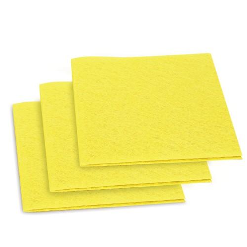 Nonwoven Multipurpose Viscose (10mx10pcs) yellow. Weight 110g/m². Width 38cm. Price per piece (100m)   21% VAT incl. Free shipping!