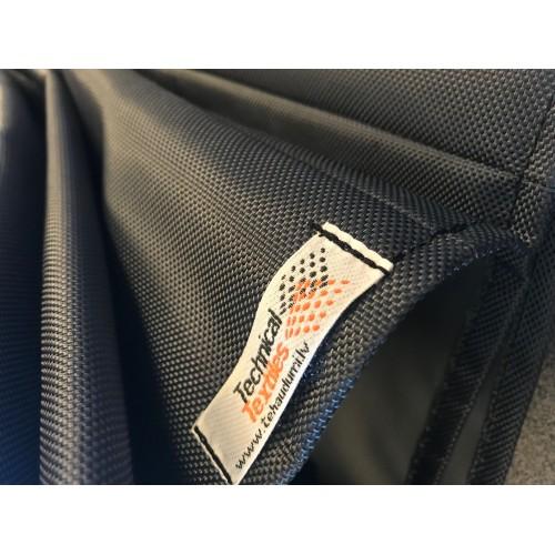 Audums Kodura 1680D PVC-F, bl.600g/m², pl.145cm, grafīta krāsā. Bezmaksas piegāde!