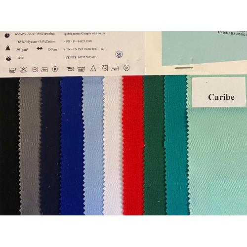Fabric MEDICAL, Hospital Green. Width 150cm, weight 195g/m². Price per roll 50m, VAT incl.