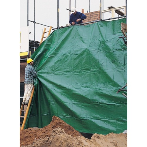 Tarpaulin 8x12m, weight 70 g/m². Price per piece VAT incl. Free shipping