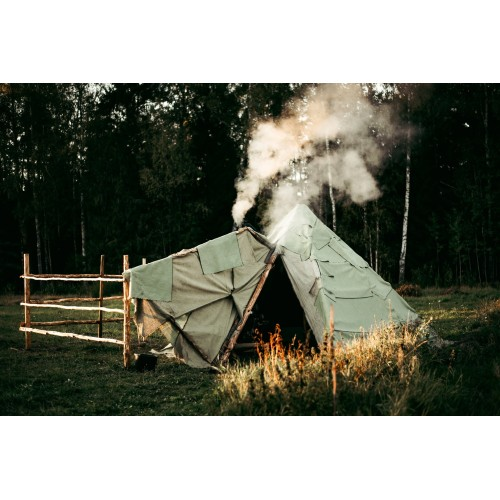 Water-resistant Tarpaulin, weight 450 g/m², width 90 cm. 50% linen, 50% cotton. Free shipping!