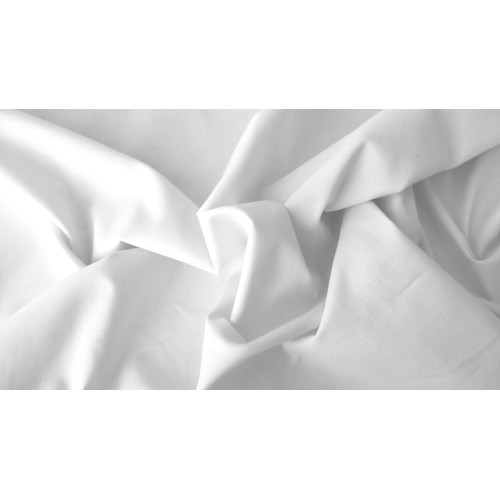 Cotton voile fabric, weight 100g/m², width 160cm,  white . Free shipping!