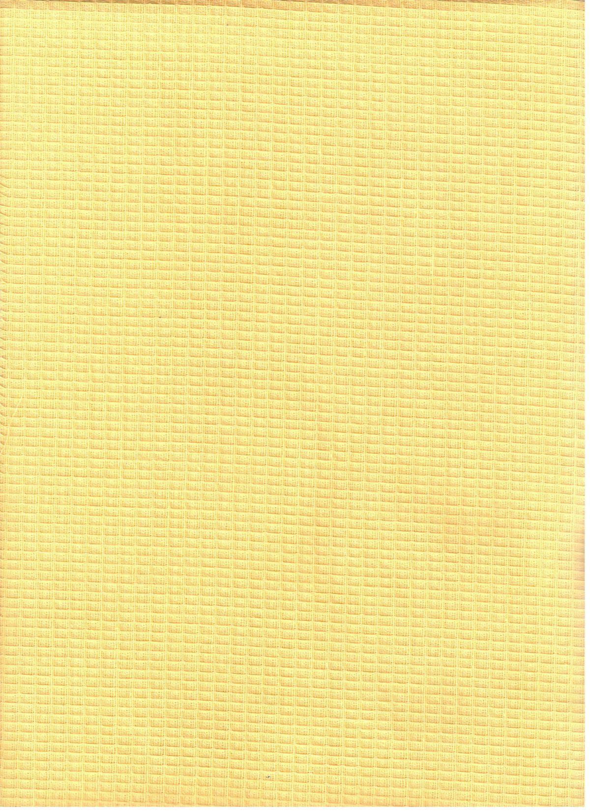 Vafeļu aud. 100% kokvilna, bl.170g/m², pl.150 cm, dzeltens. Cena norādīta ar PVN (21%) par rulli- 20m. Bezmaksas piegāde