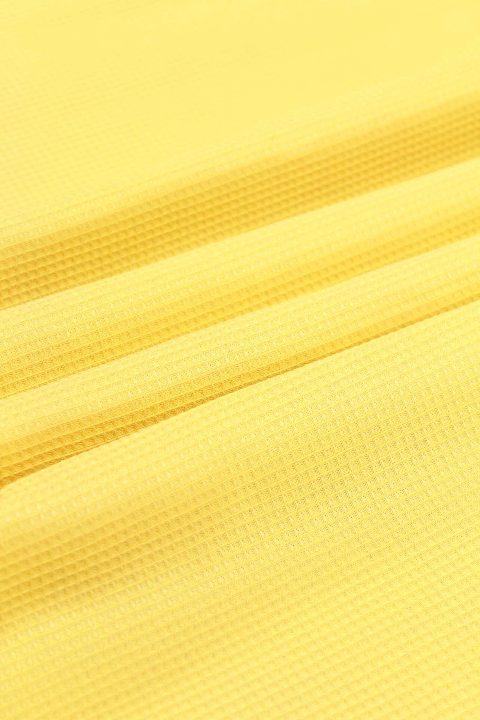 Vafeļu audums, 260 g/m², 150 cm, dzeltens