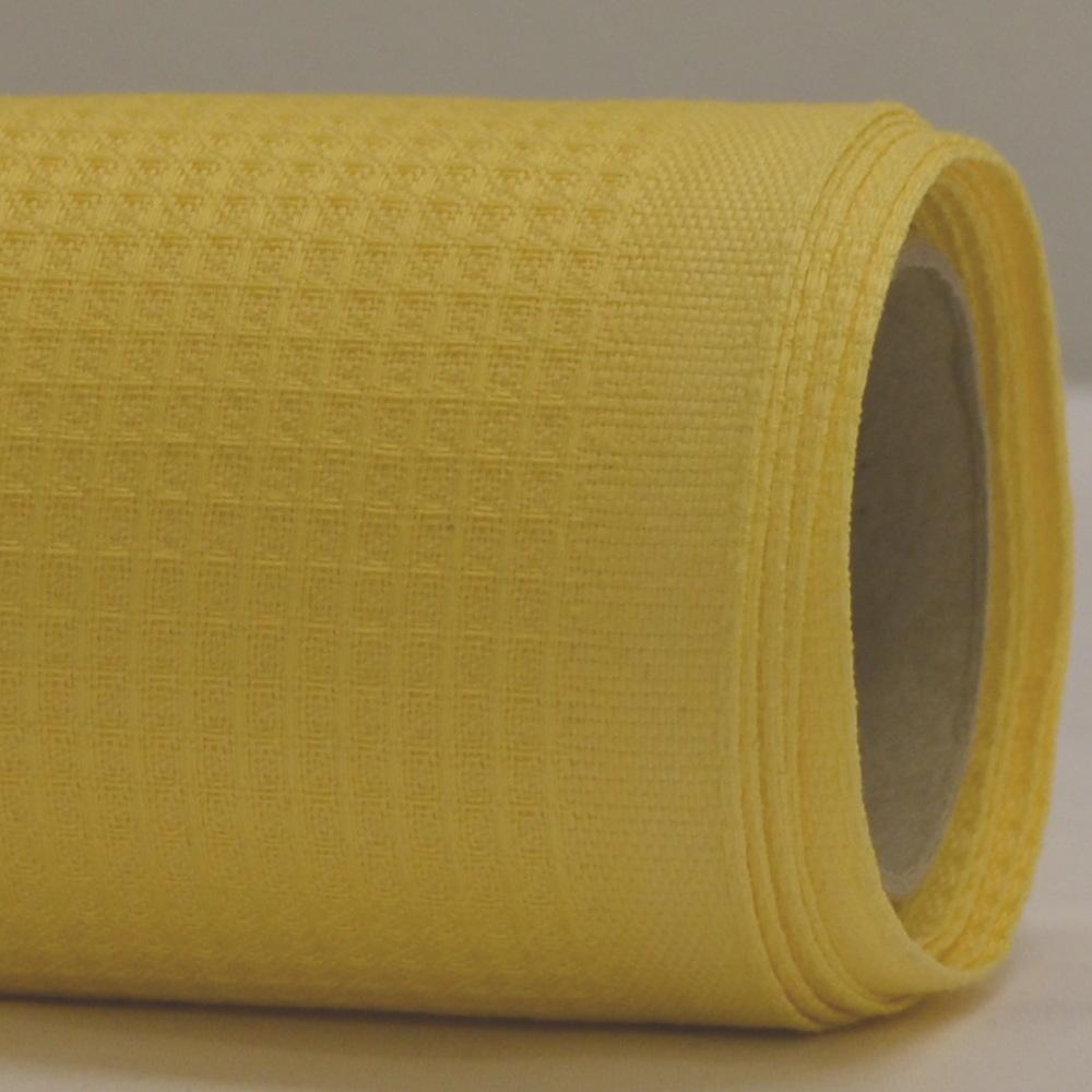 Vafeļu audums 100% kokvilna, bl.260g/m², pl.150cm, dzeltens. Bezmaksas piegāde