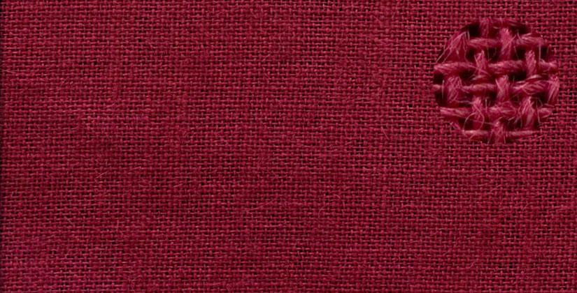 Džutas audums, Nr.61. Bl.280 g/m². Pl.145 cm. Bordo krāsā. Bezmaksas piegāde uz Omniva pakomātiem visā Latvijā!