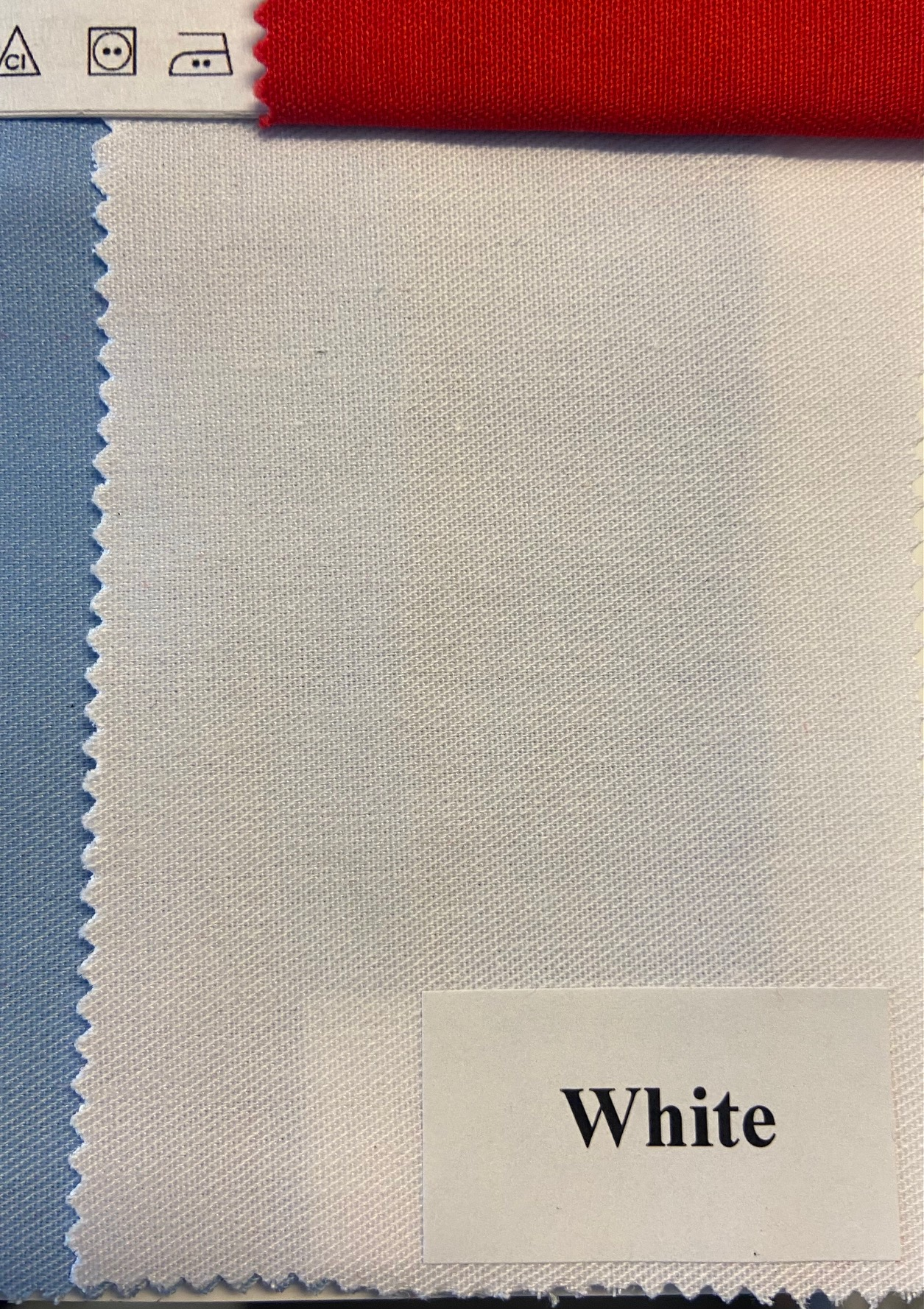 Fabric MEDICAL, White. Width 150cm, weight 195g/m². Price per roll 50m, VAT incl.